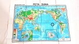 MANIX EDUCATION CHART (COLOUR)- WORLD PHYSICAL MAP (CODE 812) x 1pc