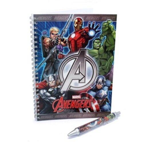 Marvel Avengers A5 Note Book 50\'S With Pen Set - Blue Colour
