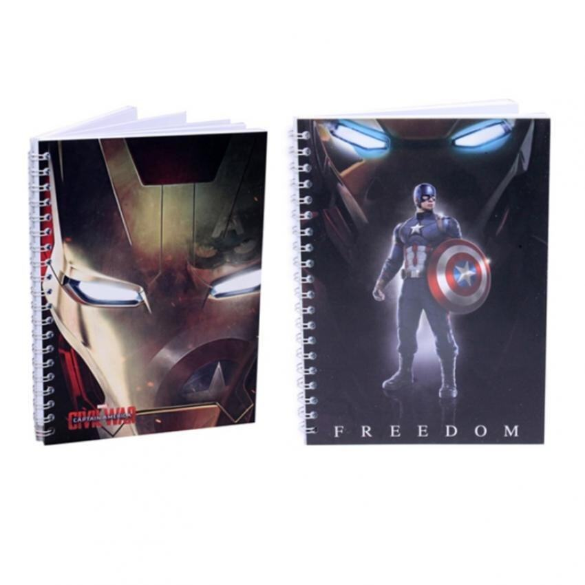 Marvel Avengers Captain America Civil War Notebook Set - Iron Man And Captain America