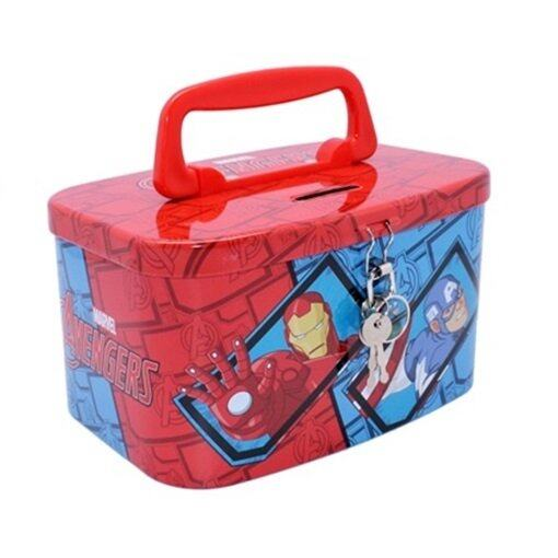 Marvel Avengers Tin Coin Bank - Red and Blue Colour
