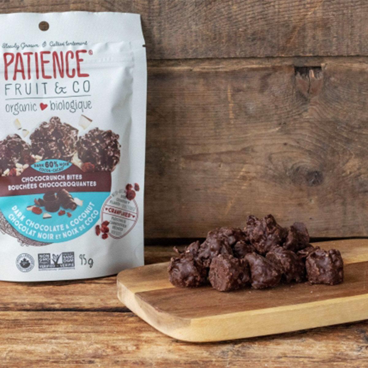 Patience Organic Chococrunch Bites Dark Chocolate & Coconut 95g 有机黑巧克力+烤椰子片(EXP31/8/2021)