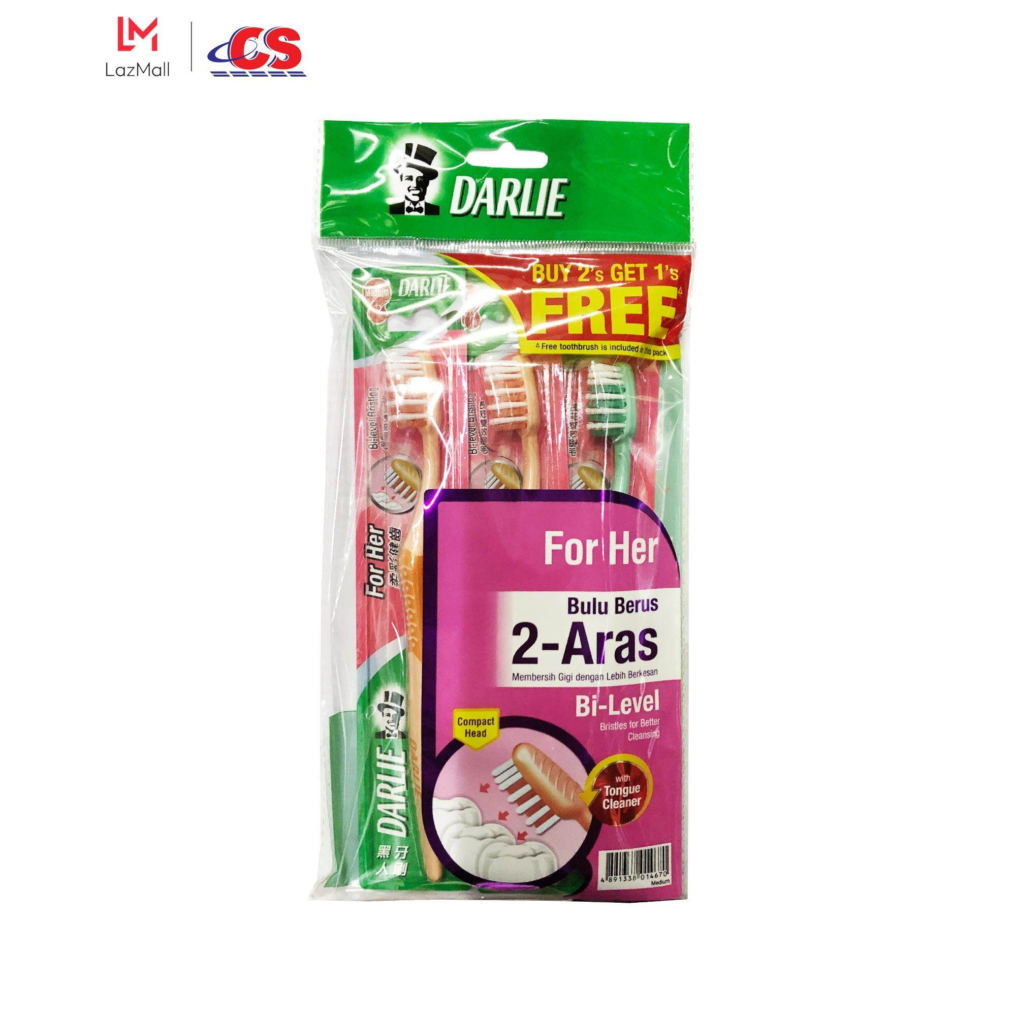 DARLIE Toothbrush For Her Buy 2 Free 1