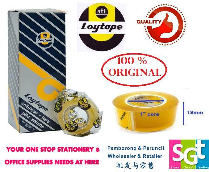 Loytape Cellulose Tape 18mm x 15m (8R/Box)
