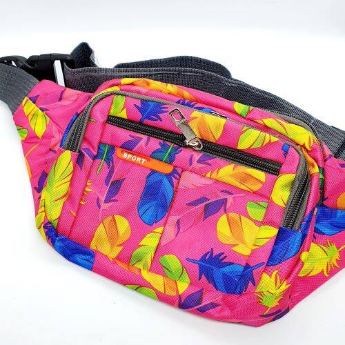 Ready Stock - 4 Compartments Waterproof Waist Pouch Bag Unisex Anti-Theft