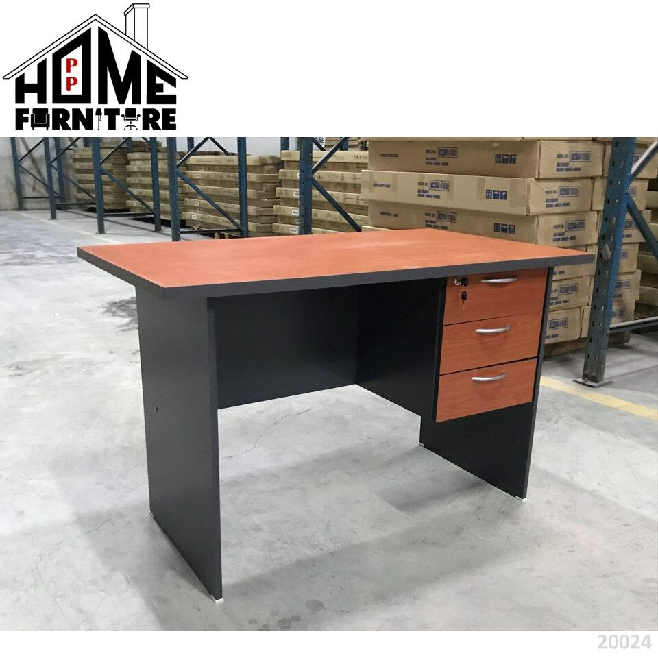 PP HOME Study Table with locker drawer/Writing table/Working table /PC table/ Student table/Home office table/Multipurpose table/Desk/Computer table/Destop/laptop/Meja belajar/Meja tulis/Meja kerja/komputer电脑桌/书桌/工作桌/读书桌/办公桌20022 1/2