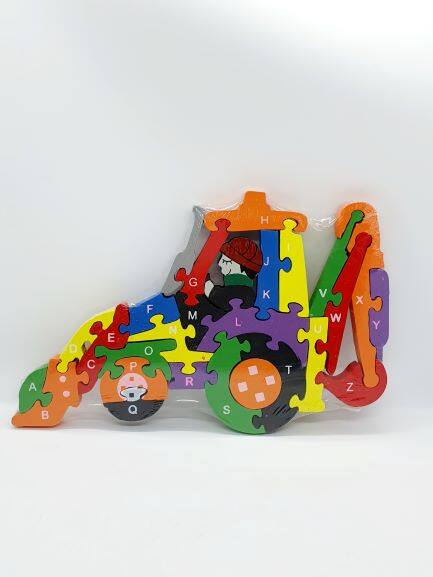 READY STOCK - Colourful 2 sided Number and Alphabet Wooden Puzzle