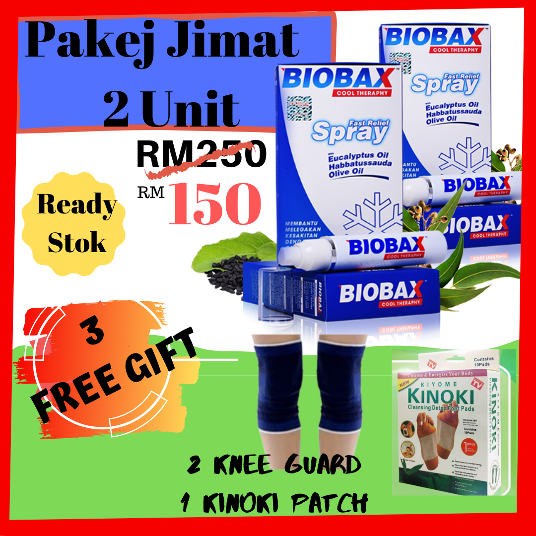 ?3 FreeGift?Pakej 2 Biobax Penawar Sakit Pinggang Lutut Lenguh Belakang Gout Terutama Ibu Bapa Anda??