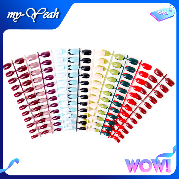 Bộ móng tay giả Myyeah kiểu dáng sáng tạo hình giọt nước có thể tháo rời dễ dàng sử dụng làm móng tại nhà, có 12 kiểu để lựa chọn - INTL giá rẻ