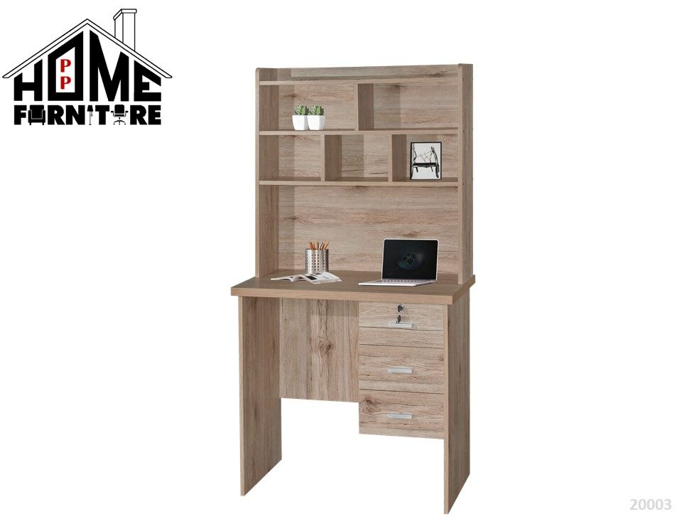 PP HOME Study Table with shelf & locker drawer/Writing table/Working table /PC table/ Student table/Home office table/Multipurpose table/Desk/Computer table/Destop/laptop/Meja belajar/Meja tulis/Meja kerja/komputer电脑桌/书桌/工作桌/读书桌/办公桌20003