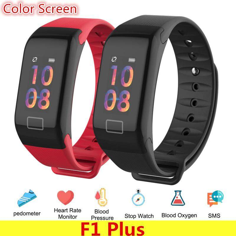 badgeF1 PlusWristband Heart Rate Monitor Smart Watch Blood Pressure Blood Oxygen Tracker Sports Reminder Smart Bracelet For IOS And Android f1 plus band