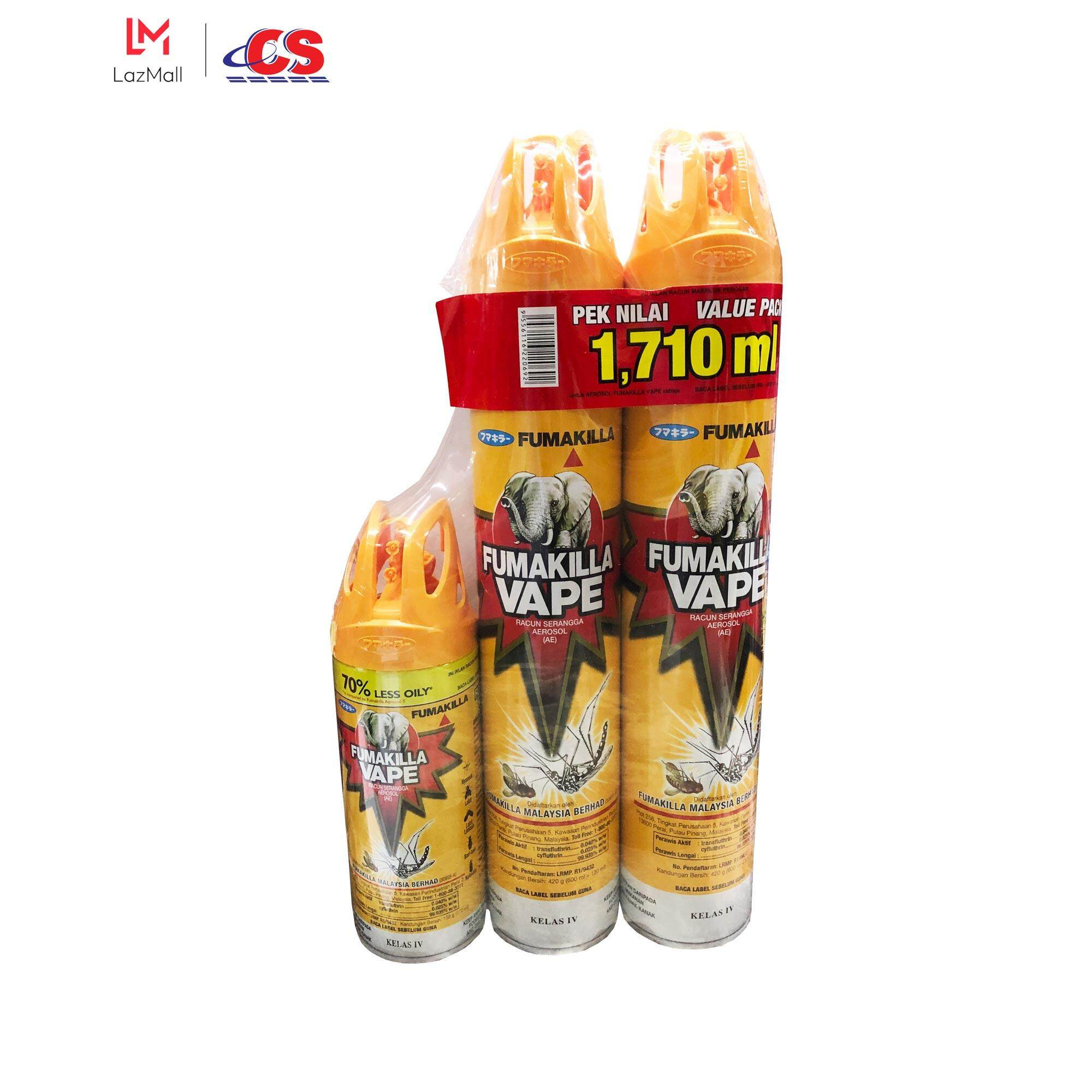 FUMAKILLA Vape Aerosol Value Pack 1710ml