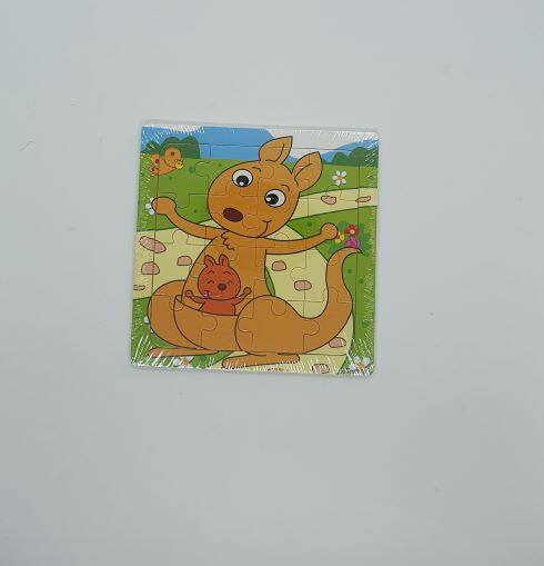 READY STOCK - 16 Pcs Kids Learning Wooden Puzzle Animal