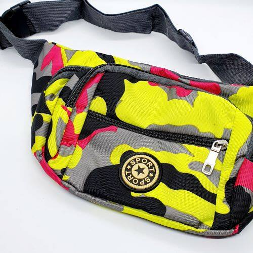 Unisex Waist Pouch 4 Compartments Bag Waterproof