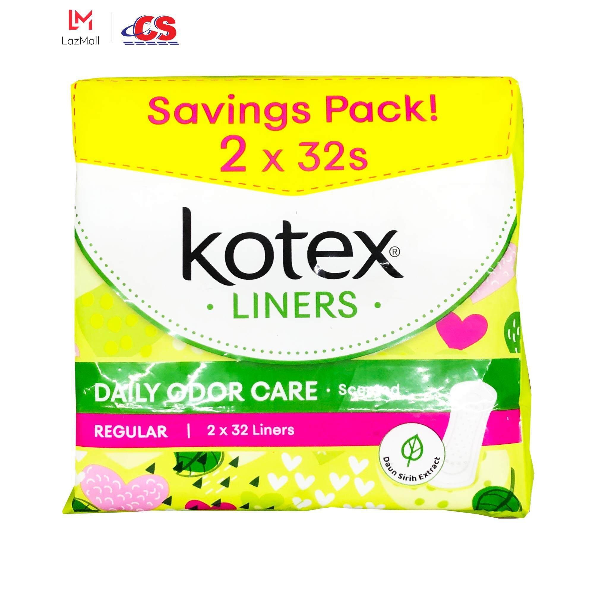 KOTEX Fresh Pantiliner Daun Sireh 2x32s