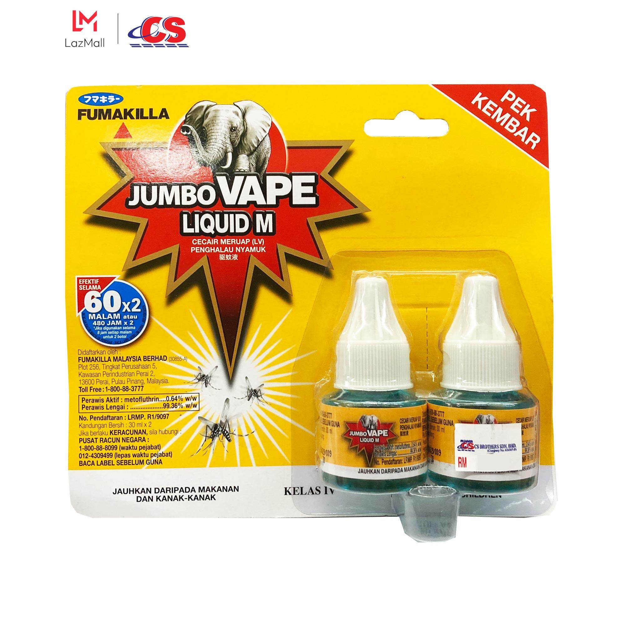 FUMAKILLA Jumbo Liquid 60H Refill Twin Pack 2x30ml