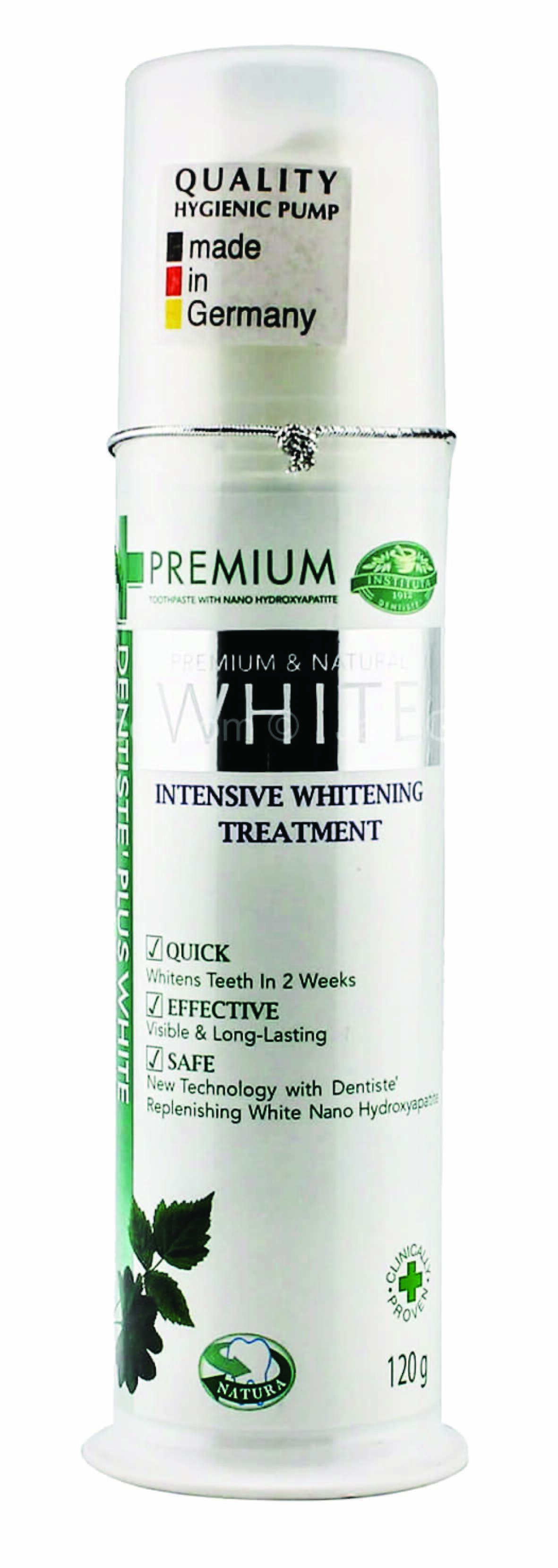 DENTISTE PREMIUM AND NATURAL WHITE TOOTHPASTE PUMP 120g  (HALAL)