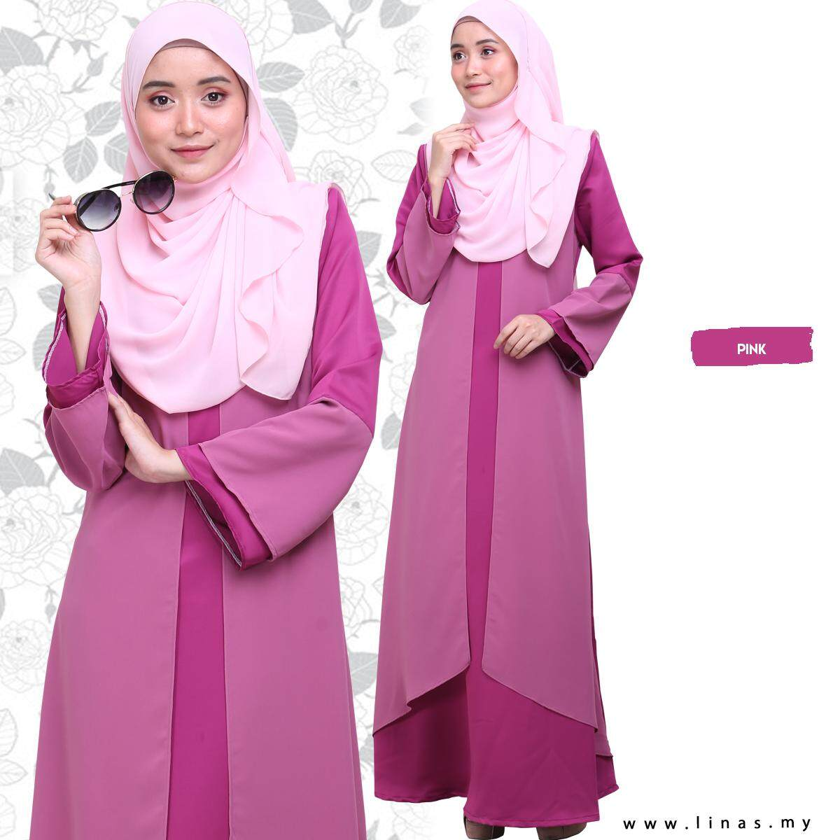 Modest Long Dress Jubah Muslimah QAYSARA by LINAS FASHION for Casual Wear / Office Wear / Solat / Umrah from Malaysia