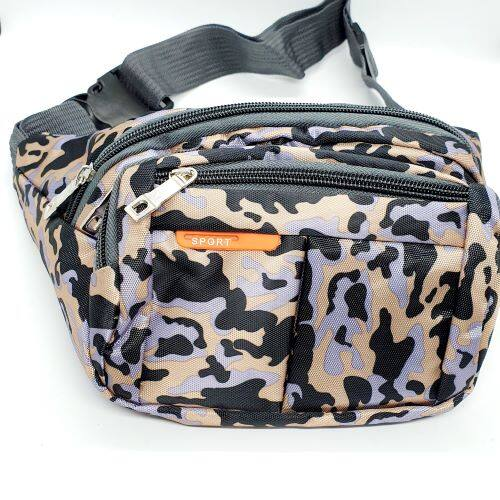 Waist Pouch 4 Compartments Bag Waterproof Unisex