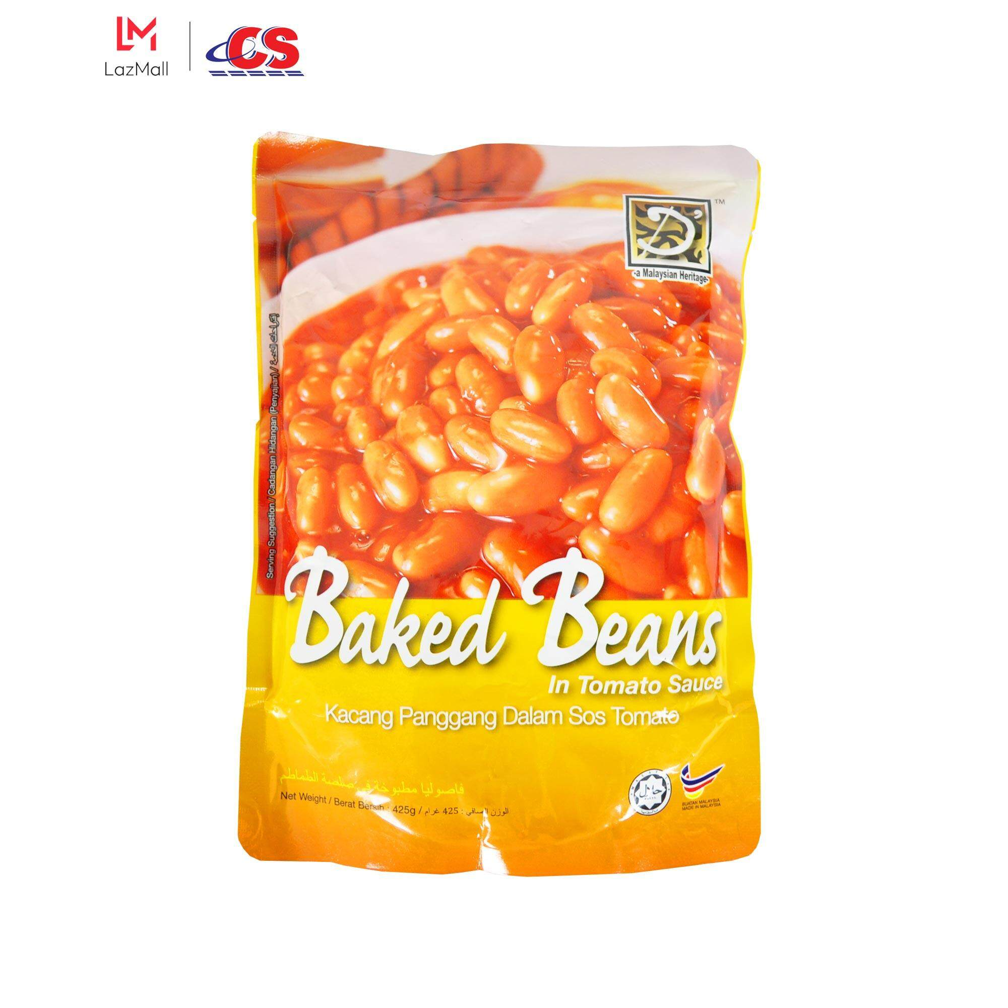 D' HERITAGE Baked Beans in Tomato Sauce 425g