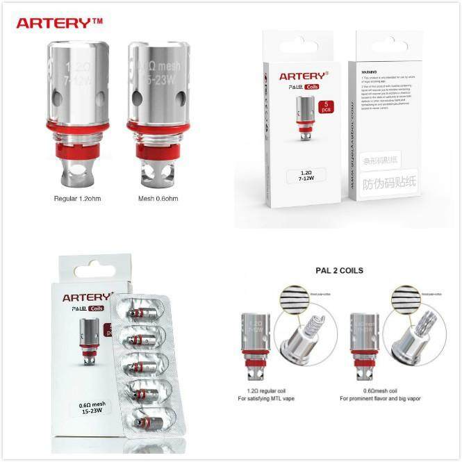 Artery PAL 2 AIO HP cores 0.6ohm/1.0ohm mesh coil for PAL II pod vape kit artery hp cores 1.0 regular occ 5 pcs