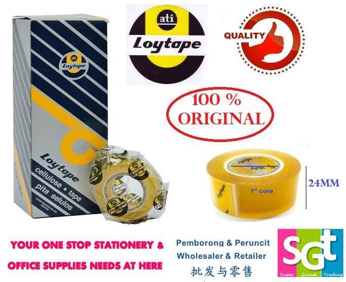 Loytape Cellulose Tape 24mm x 15m (6`s/Box)
