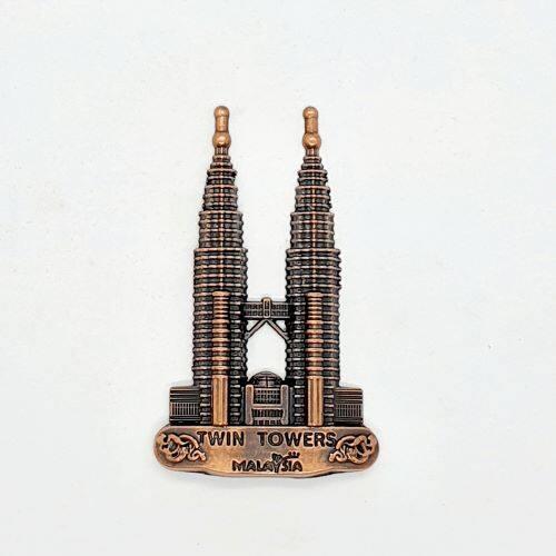 Ready Stock - KLCC Twin Tower Metal Fridge Magnet Kuala Lumpur