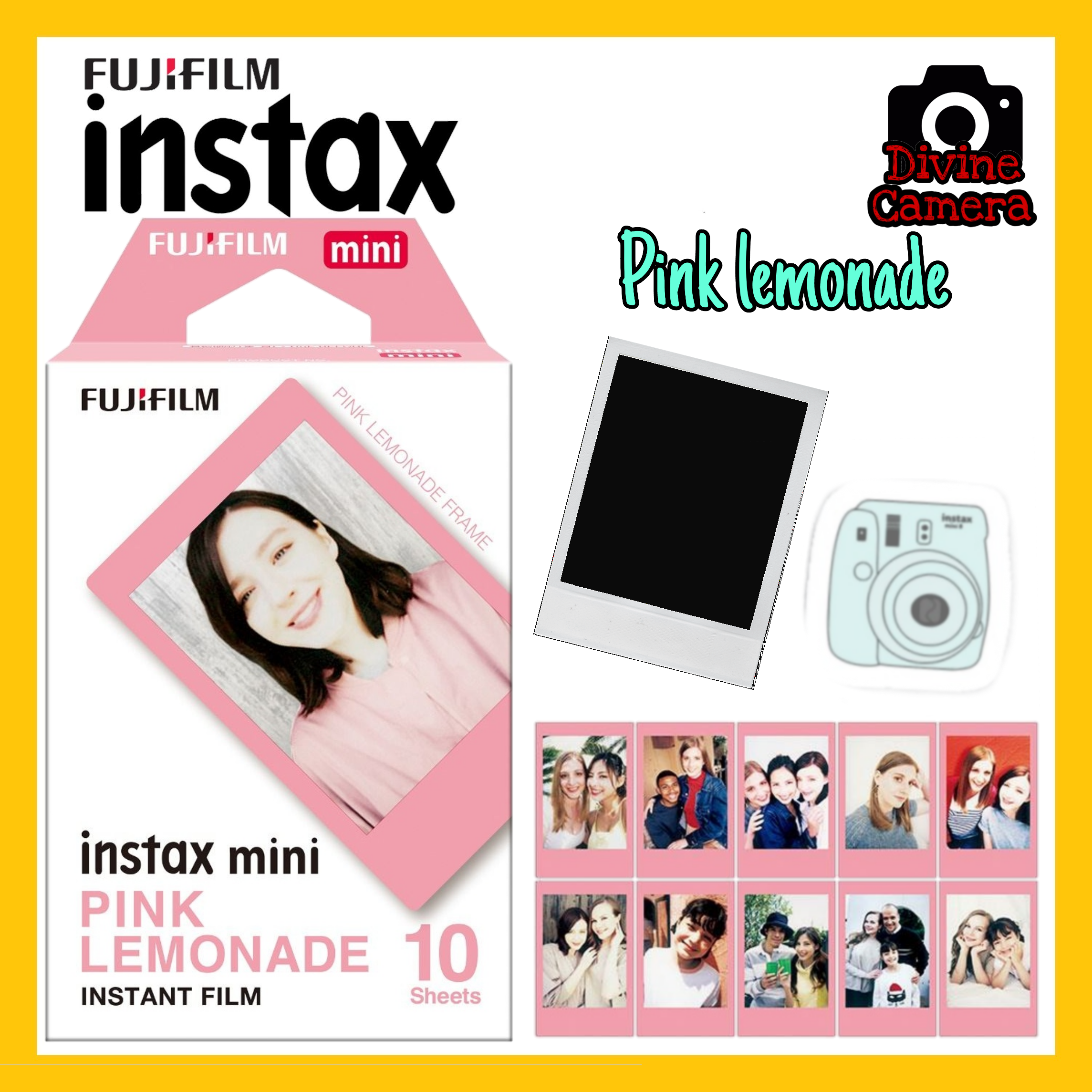 FUJIFILM INSTAX Mini Pink Lemonade Instant Film (10 Sheets)