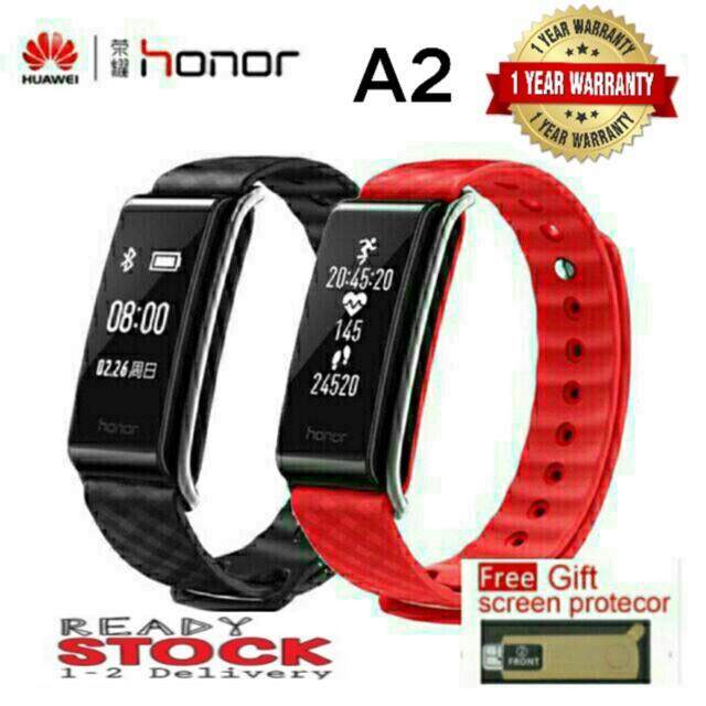 Original Huawei Honor A2 Heart Rate Monitor Bluetooth Fitness Tracker Smart Band honor a2 black free screen protector