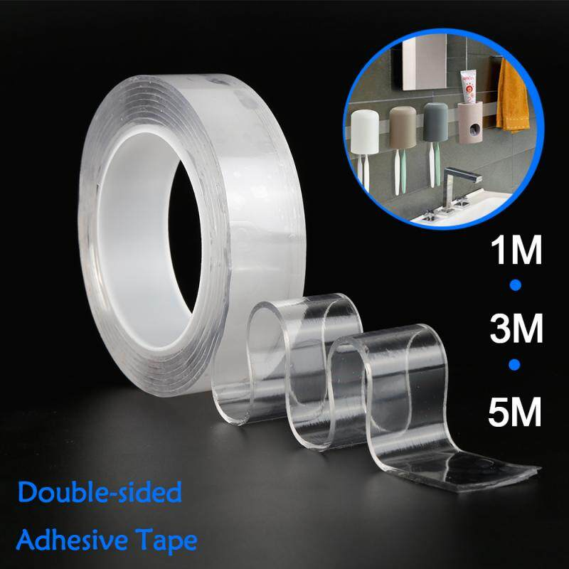 Nano Transparent Double-Sided Tape Strong Adhesive Multi-function Reuseable Traceless