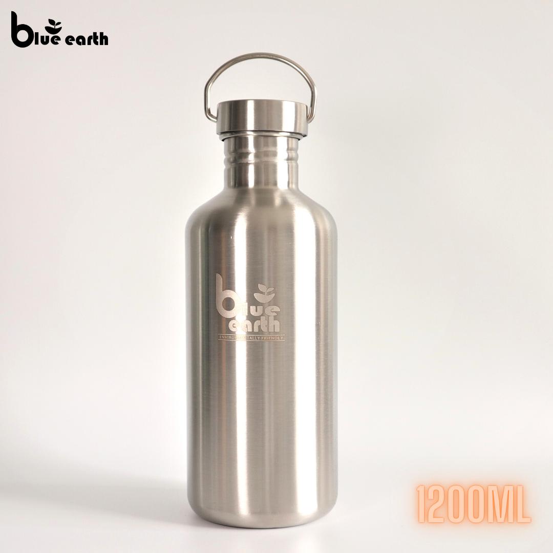 Blue Earth stainless steel water bottle 1200ml bottle drinking bottle