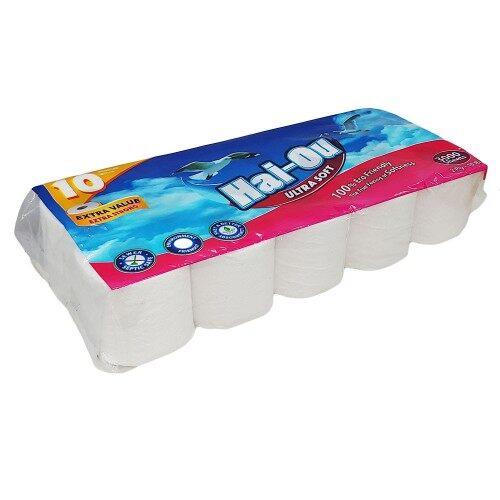 Toilet Paper (Hai-Ou) Ultra Soft 2 Ply  3000 sheets(10 rolls)