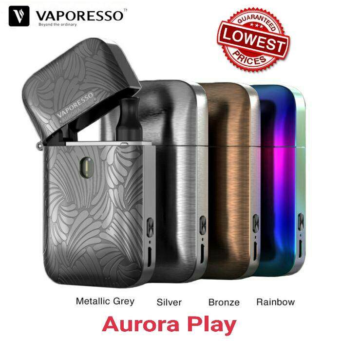 *NEW* ORIGINAL VAPORESSO AURORA POD AURORA PLAY LIGHTER CBD POD KIT 650MAH 2ML aurora kit grey