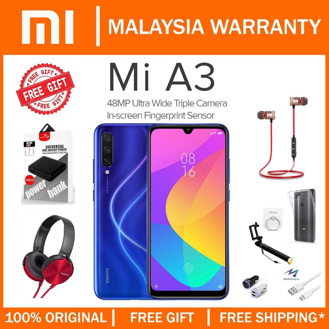 Xiaomi Mi A3 Smartphone [128GB ROM/4GB RAM] 1 Year Warranty by Xiaomi Malaysia with Free Gift worth RM299