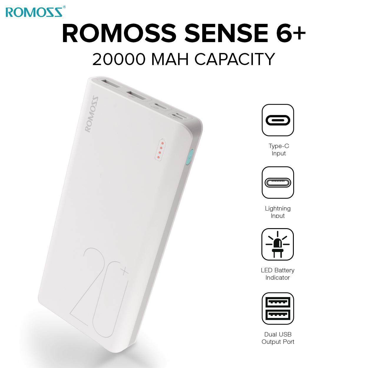 ROMOSS SENSE 6 PLUS/sense 6 20000mAh POWER BANK RM-PH80C0202 (WHITE)
