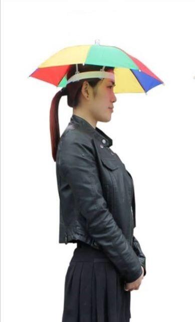 Ready Stock - Head Umbrella Anti Sun Outdoor Parasol Payung Kepala