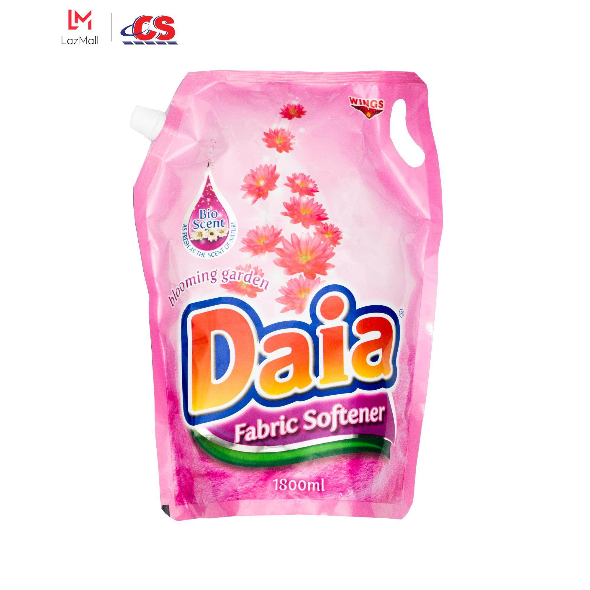 DAIA Fabric Softener Blooming Garden Pink Refill 1.8L