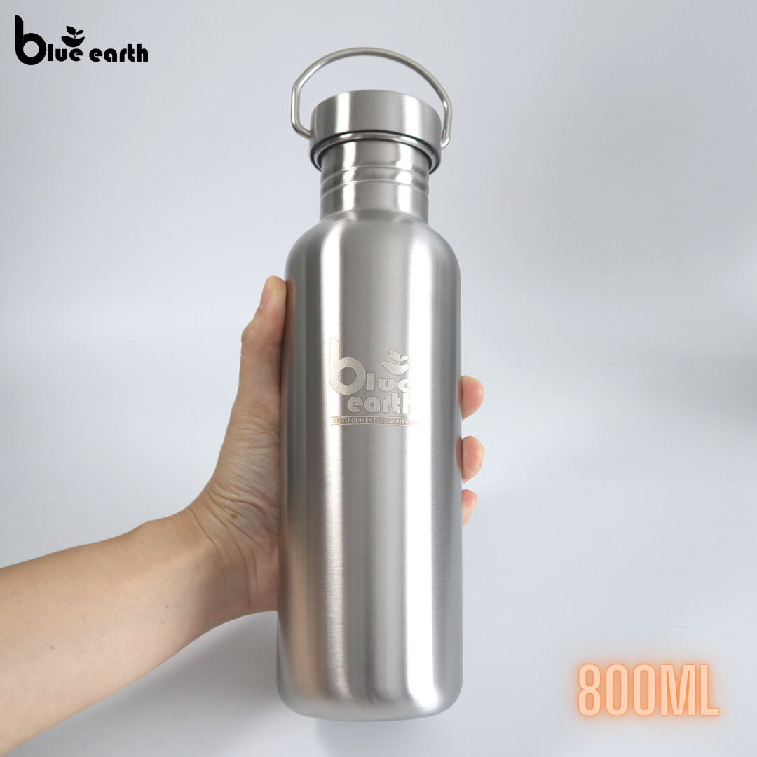 Blue Earth stainless steel water bottle 800ml bottle drinking bottle flask