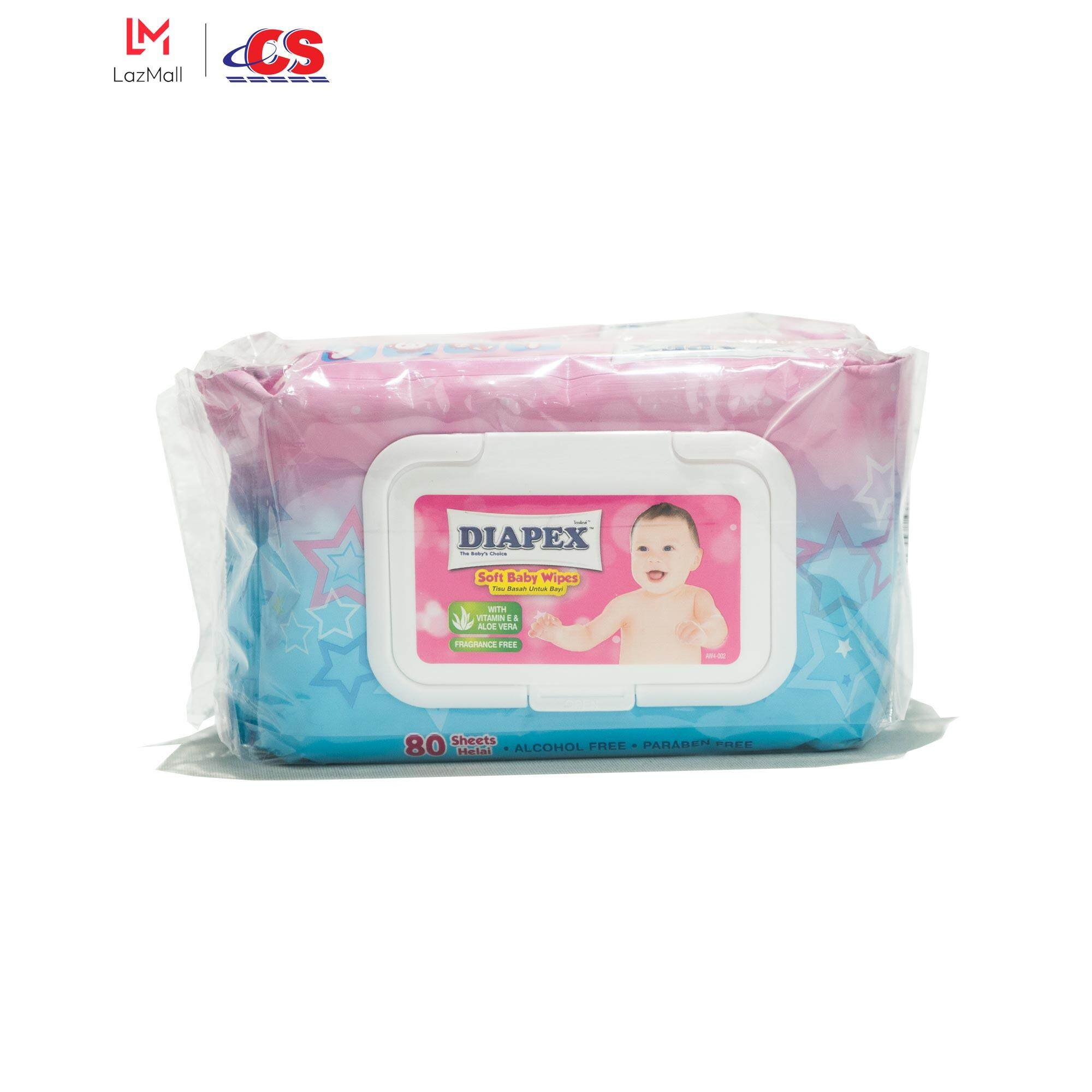 DIAPEX Soft Baby Wipes Twin Pack 2x80s