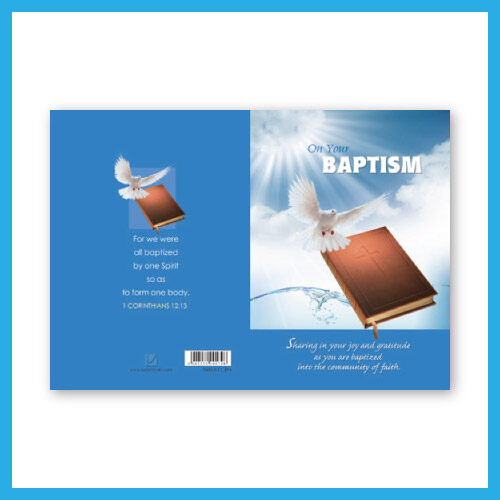 Ouranos Art Christian Gift Card For Friend English Baptism Greeting Card 10x15cm