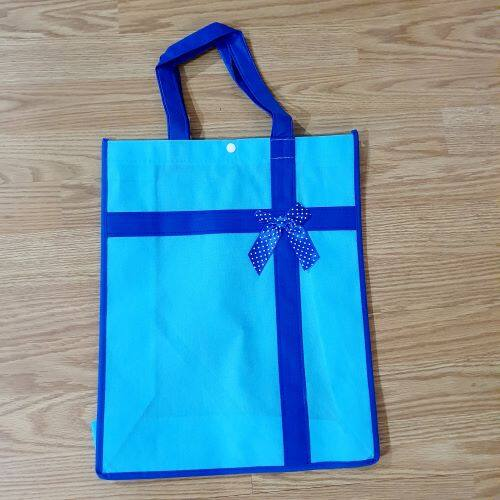 Ready Stock - A3 Size Non Woven /Gift/Shopping Recycle Bag with Button And Ribbon
