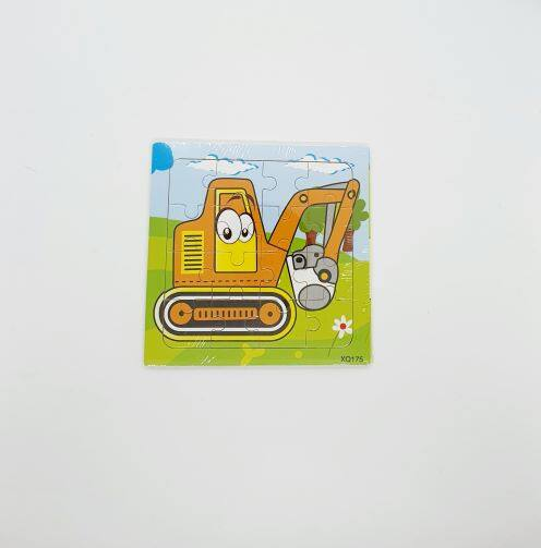 READY STOCK - 16 Pcs Kids Learning Wooden Puzzle Transport