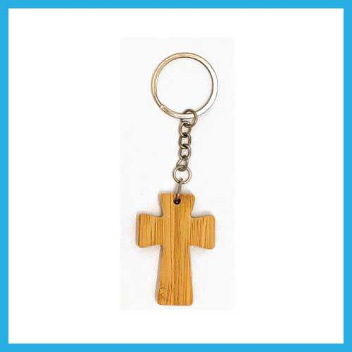 Ouranos Art Christian Gift For Parent Student Mandarin Scripture Wooden Featured Long Keychain Keyring