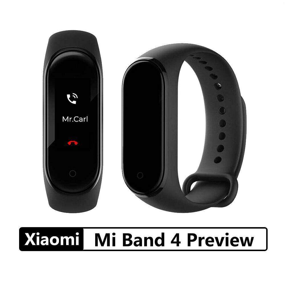 2019 Newest Xiaomi Mi Band 4 Smart Bluetooth 5.0 Wristband Fitness Bracelet AMOLED Color Touch Screen Music AI Heart Rate Monitor miband 4 black
