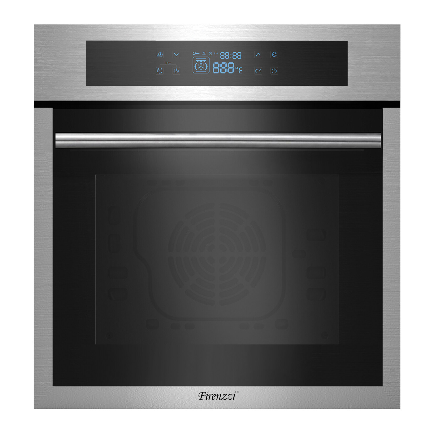 Firenzzi FBO-6199 XP Professional Built-in Oven with 1 Year Warranty (65 Litres & 10 Cooking Functions)