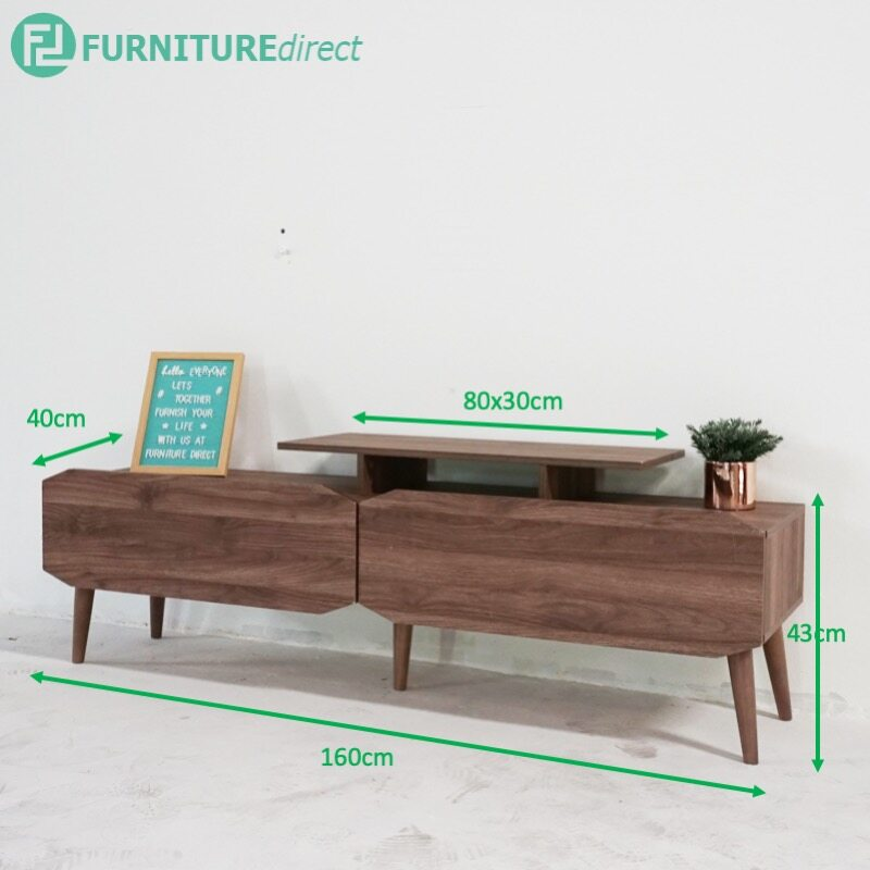 5 feet TV cabinet with 2 drawers-walnut TV-900041