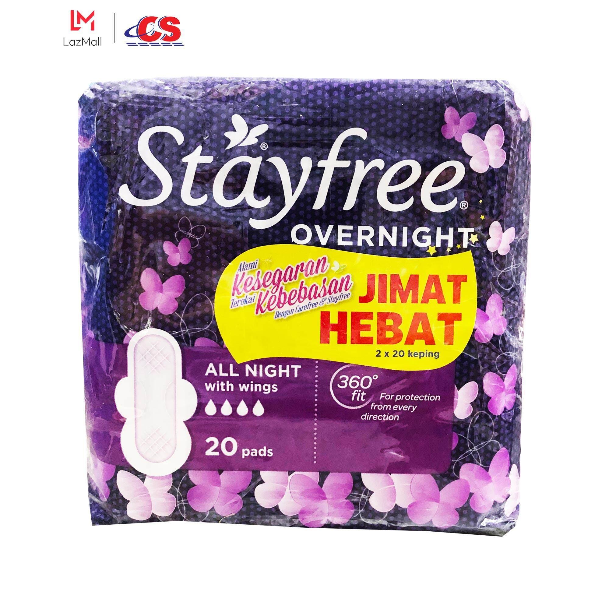 STAYFREE Cottony Soft Overnight Wing 2x20s