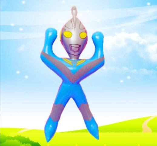 Ready Stock - Raise Hand Inflate Ultra man Toys