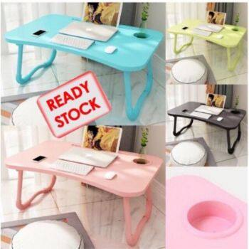 Ready stock Foldable Table Anti-slip Bed Laptop Table Notebook Table Portable Computer Desk