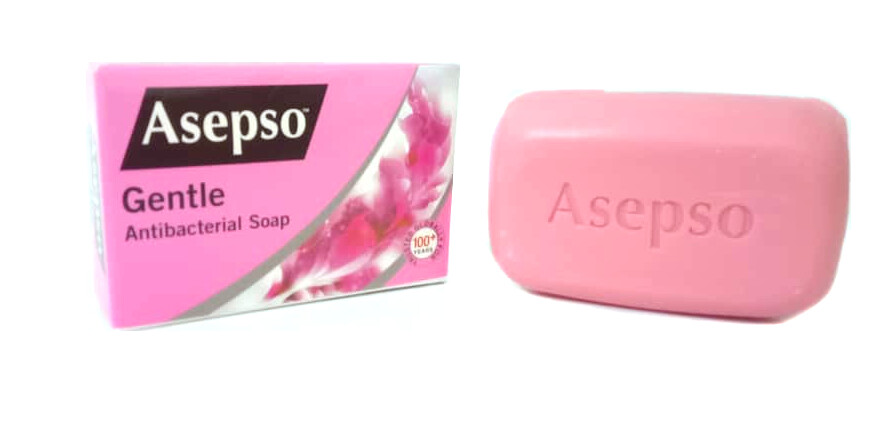 ASEPSO ANTIBACTERIAL SOAP GENTLE 80G 3BAR