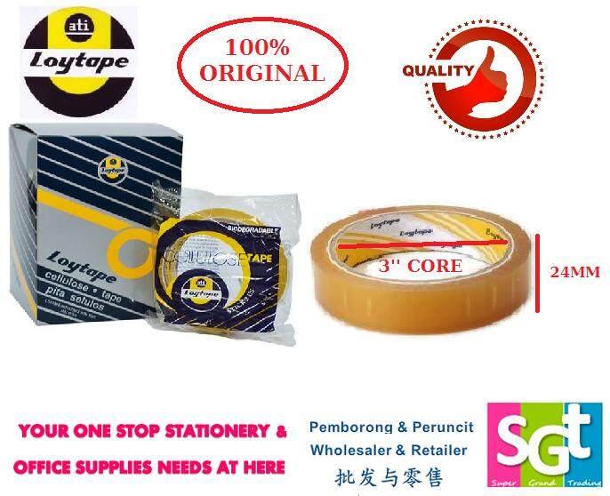 Loytape Cellulose Tape 24mm x 40m (6R/box)